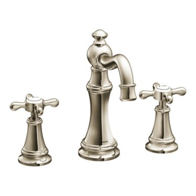 Weymouth Double Handle Widespread High Arc Bathroom Faucet with Optional Pop-Up Drain Finish: Polished Nickel, Flow Rate: 1.2 GPM