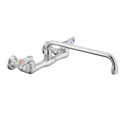 M-Dura Double Handle Wall Mount Kitchen Faucet with 12 Spout