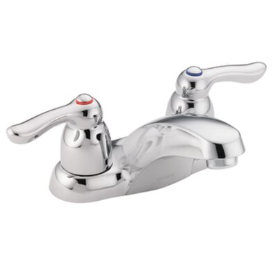 M-Bition Double Handle Centerset Bathroom Faucet Finish: Chrome