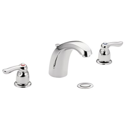 M-Bition Double Handle Widespread Bathroom Faucet Finish: Chrome