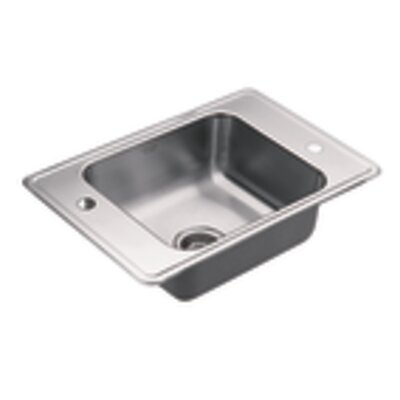 Commercial 17 x 14 Single Bowl Drop-In Classroom Sink