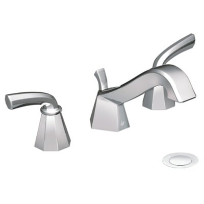 Felicity Double Handle Widespread Low Arc Bathroom Faucet Finish: Chrome