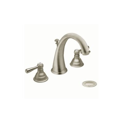 Kingsley Double Handle Widespread Bathroom Faucet with Optional Pop-Up Drain Finish: Brushed Nickel