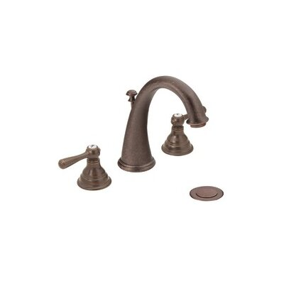 Kingsley Double Handle Widespread Bathroom Faucet with Optional Pop-Up Drain Finish: Oil Rubbed Bronze