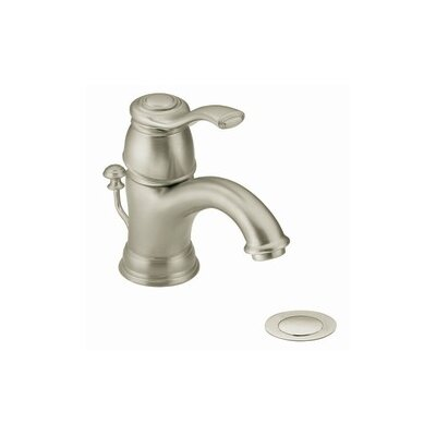 Kingsley Single Lever Handle Single Hole Bathroom Faucet Finish: Brushed Nickel
