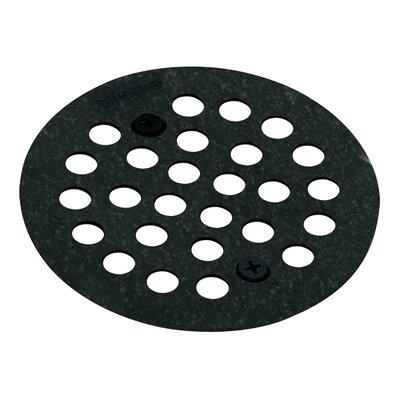 Kingsley Grid Shower Drain Finish: Wrought Iron, Installation: Screw-In