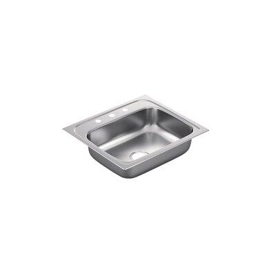 2200 Series 25 x 22 Single Basin Drop-In 22-Gauge Kitchen Sink