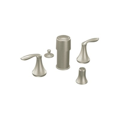 Eva Double Handle Vertical Spray Bidet Faucet Finish: Brushed Nickel