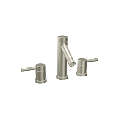 Level Double Handle Widespread Bathroom Faucet Finish: Brushed Nickel