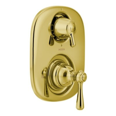 Kingsley Moentrol  Thermostatic Faucet Trim with Metal Push Button Handle Finish: Polished Brass