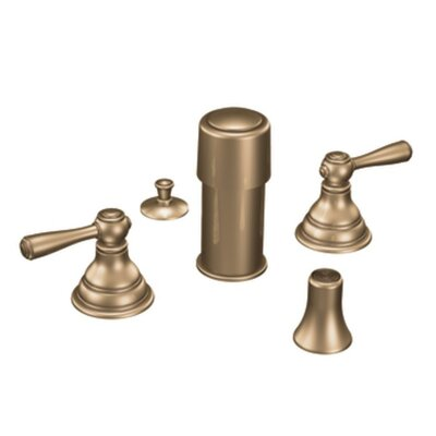 Kingsley Double Handle Vertical Spray Bidet Faucet Finish: Antique Bronze