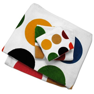 Multi Dot Printed Bath Towel