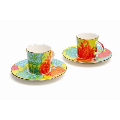 French Bull Tapestry Espresso Cup Set