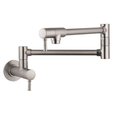 Talis C Two Handle Wall Mounted Pot Fillers Faucet Finish: Steel Optik