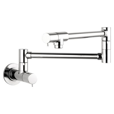 Talis S Two Handle Wall Mounted Pot Filler Faucet Finish: Chrome