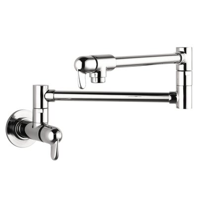 Allegro E Two Handle Wall Mounted Pot Filler Faucet Finish: Chrome