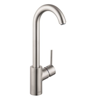 Talis S 2 Single Handle Deck Mounted Kitchen Faucet Finish: Steel Optik