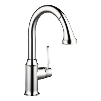 Talis C High Arc One Handle Deck Mounted Kitchen Faucet with Pull Down 2 Spray Finish: Chrome, Flow Rate: 1.75 GPM
