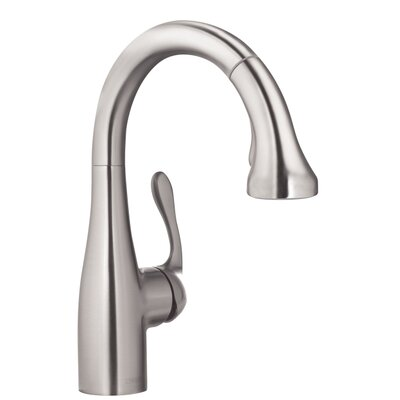 Allegro E Single Handle Deck Mounted Kitchen Faucet Finish: Steel Optik