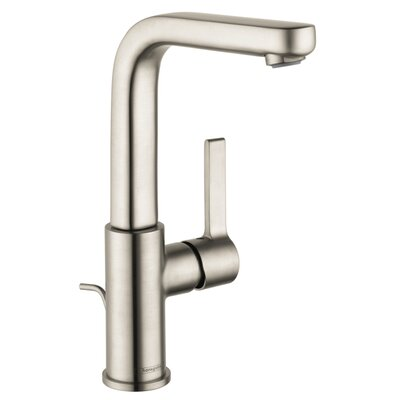 Metris S Single Handle Deck Mounted Kitchen Faucet Finish: Brushed Nickel