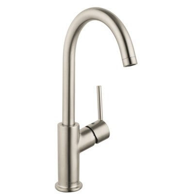 Talis S Single Handle Deck Mounted Kitchen Faucet Finish: Brushed Nickel