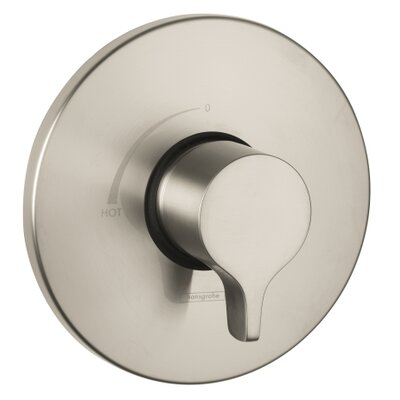 S/E Pressure Balance Faucet Trim with Lever Handle Finish: Brushed Nickel