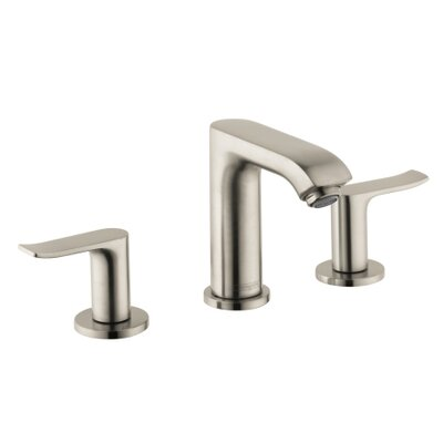 Metris E Double Handle Widespread Bathroom Faucet Finish: Brushed Nickel