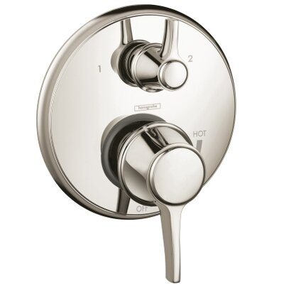 Metris C Pressure Balance Diverter Faucet Trim with Lever Handle Finish: Polished Nickel