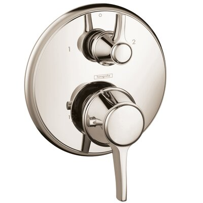 Ecostat C Thermostatic Volume Control and Diverter Faucet Trim with Lever Handle Finish: Polished Nickel