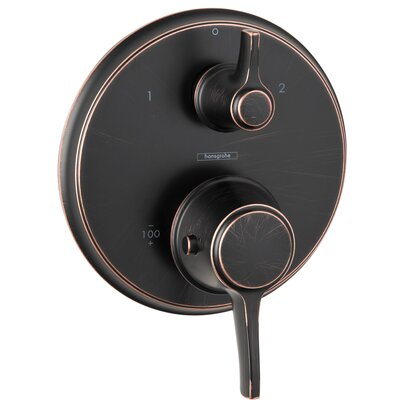 Ecostat C Thermostatic Volume Control and Diverter Faucet Trim with Lever Handle Finish: Rubbed Bronze