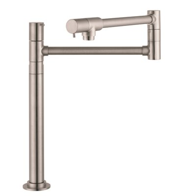 Talis S Single Handle Deck Mounted Pot-Filler Faucet Finish: Steel Optik
