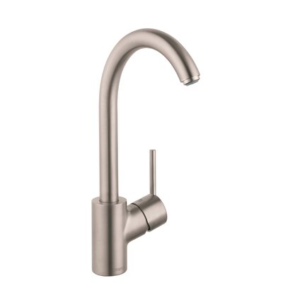 Talis S Single Handle Kitchen Faucet Finish: Steel Optik