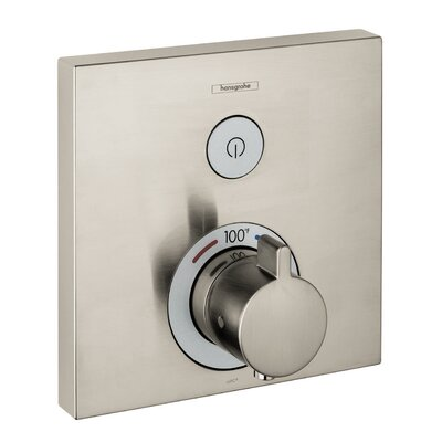 Select E Thermostatic Trim 1 Function, Square Finish: Brushed Nickel