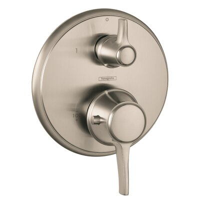 Metris C Thermostatic Volume Control Faucet Trim with Lever Handle Finish: Brushed Nickel
