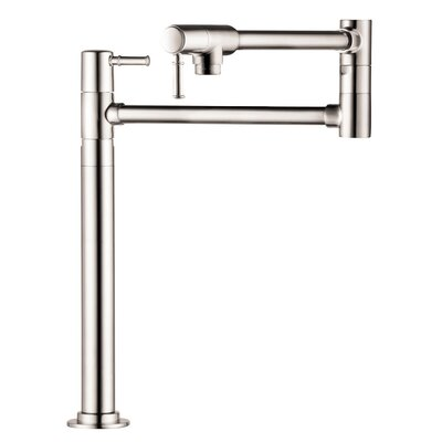 Talis C Single Handle Deck Mounted Pot Fillers Faucet Finish: Polished Nickel