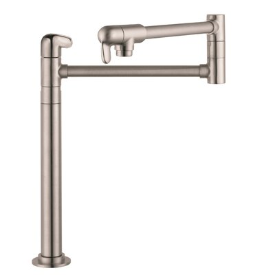 Allegro E Single Handle Deck Mounted Pot Filler Faucet Finish: Steel Optik