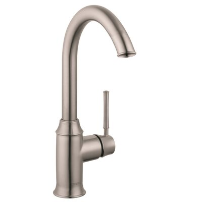 Talis C Single Handle Kitchen Faucet Finish: Steel Optik