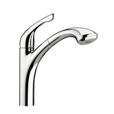 Allegro E One Handle Deck Mounted Kitchen Faucet with Pull Out Hand Spray Finish: Chrome, Flow Rate: 1.75 GPM