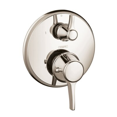 Metris C Thermostatic Volume Control Faucet Trim with Lever Handle Finish: Polished Nickel