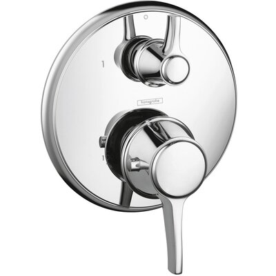 Metris C Thermostatic Volume Control Faucet Trim with Lever Handle Finish: Chrome