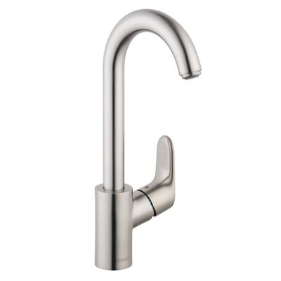 Focus Single Handle Bar Faucet Finish: Steel Optik