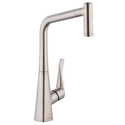 Metris HighArc Single Handle Kitchen Faucet with 2 Spray Finish: Steel Optik
