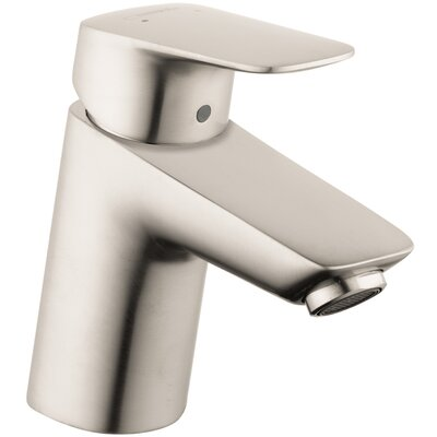 Logis Faucet Single Handle with Drain Assembly Finish: Brushed Nickel