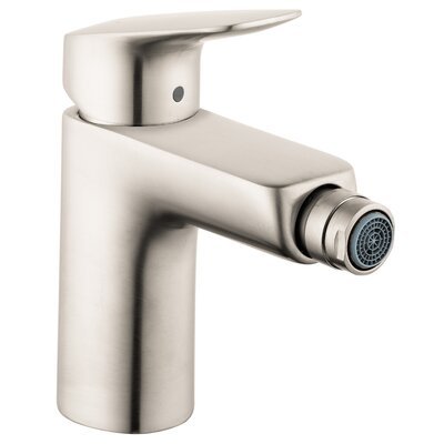 Logis Bidet Faucet Single Handle with Drain Assembly Finish: Brushed Nickel