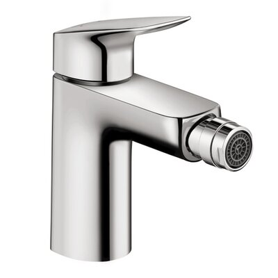 Logis Bidet Faucet Single Handle with Drain Assembly Finish: Chrome