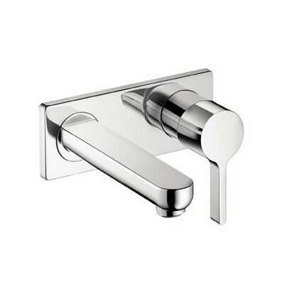 Metris S Single Handle Wall Mounted Kitchen Faucet Finish: Brushed Nickel