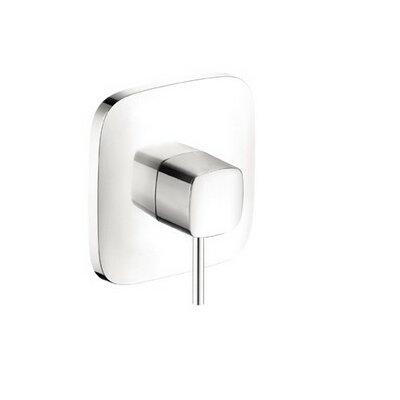 PuraVida Pressure Balance Faucet Trim with Lever Handle Finish: Chrome/White