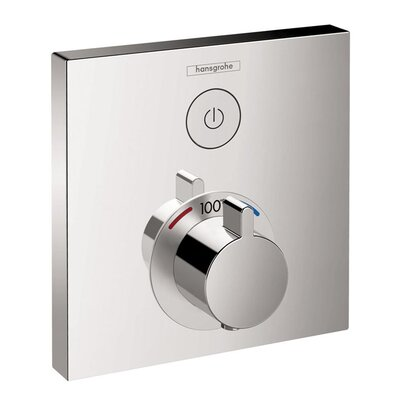 Select E Thermostatic Trim 1 Function, Square Finish: Chrome