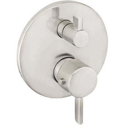 Furniture-Hansgrohe S Thermostatic Volume Control Faucet Trim with Lever Handle