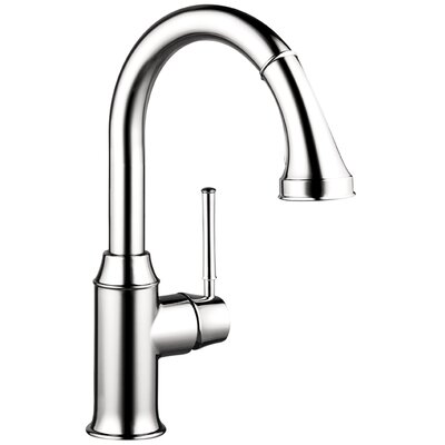 Talis C Prep One Handle Deck Mounted Kitchen Faucet with Pull Down 2 Spray Finish: Polished Nickel